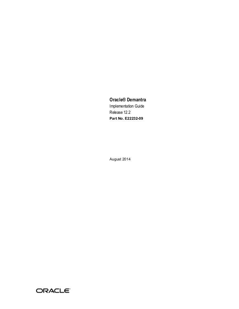Oracle demantra integration guide.