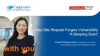 """Cross-Site Request Forgery Vulnerability: """"A Sleeping Giant"""""""