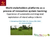 Th5_Multi-stakeholders platforms as a process of innovation system learning