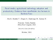 Th5_Rural media, agricultural technology adoption and productivity: Evidence from smallholder rice farmers in Burkina Faso