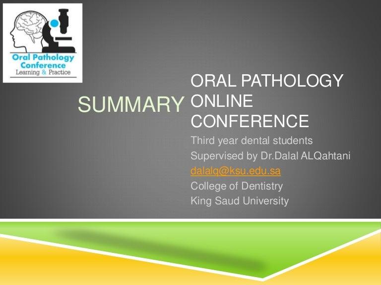 Summery ( Oral cancer in saudi arabia )
