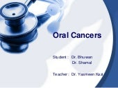Oral cancers