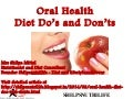 Oral Health: Diet Do's and Don'ts