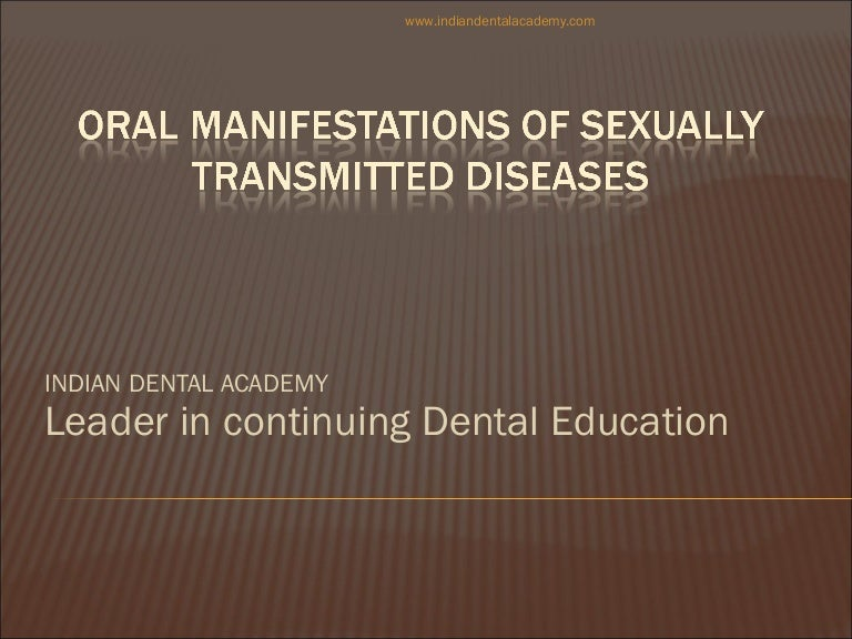 Sexually transmitted diseases continuing education
