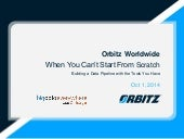 Big Data Everywhere Chicago: When You Can't Start From Scratch -- Building a Data Pipelines with the Tools You Have. An Orbitz Case Study. (Orbitz)