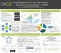 Poster: Connecting Researchers with their Research Through Community Adoption of ORCID
