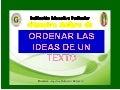 Ordenar las ideas de un texto