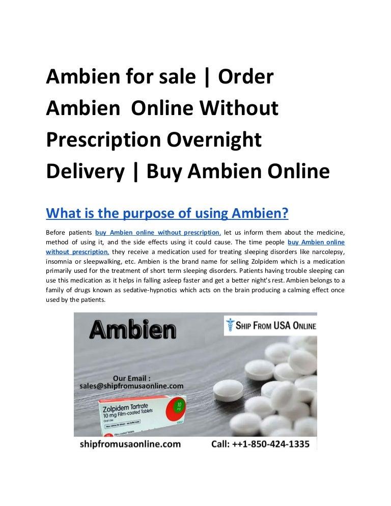 Buy Ambien Without Prescription