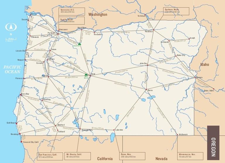 scott phinney oregon mileage map