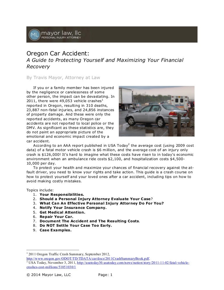 Oregon Car Accident Guide: Protect Your Rights and Maximize Recovery