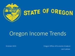 Oregon Income Trends