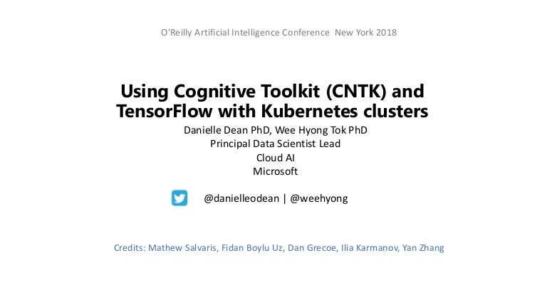 Using CNTK and TensorFlow with Kubernetes