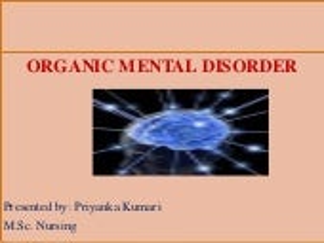 Organic mental disorder