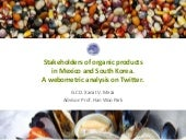 Stakeholders of Organic Products in Mexico and Korea