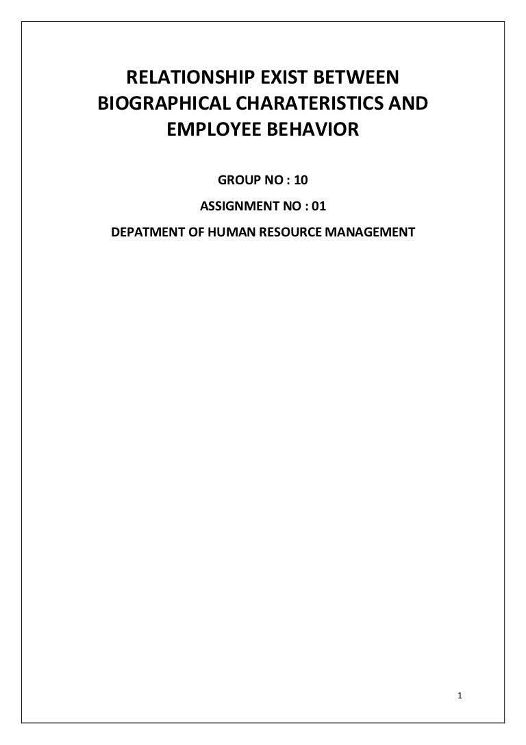 relationship between biographical characteristics and employee behavi