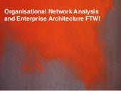 Organisational Network Analysis and Enterprise Architecture