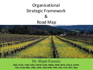 Organisational strategic framework & road map