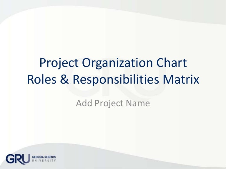 Organization Chart & Project Responsibilities