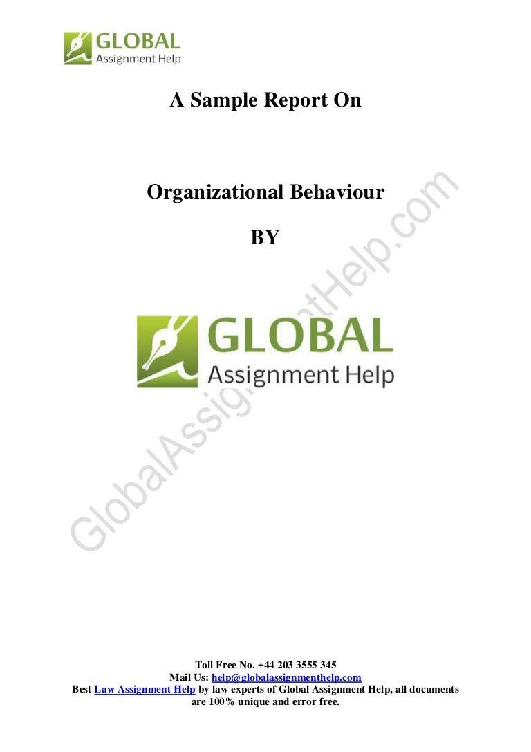 organizational behaviour sampe by global assignment help