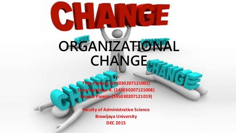 Organizational change ppt