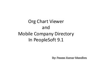 Org chart viewer and mobile company directory