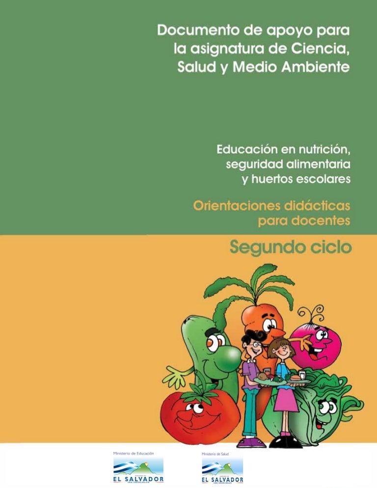 Manual Para Docentes De 2º Ciclo Educación En Nutrición Seguridad