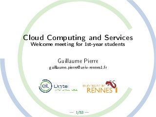 Orientation slides : M1 CCS (Cloud Computing and Services) : Univ de Rennes 1