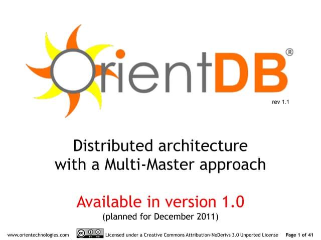 OrientDB distributed architecture 1.1