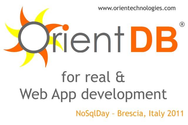 OrientDB for real & Web App development