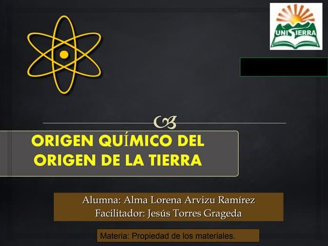Origen quimico de la vida en la tierra