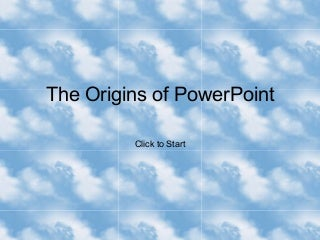 Origins of PowerPoint
