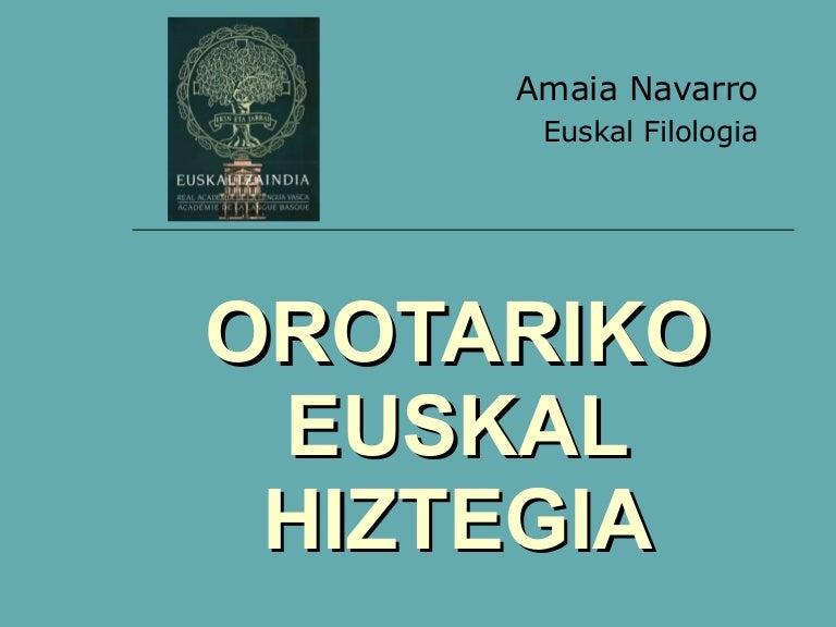 OROTARIKO EUSKAL HIZTEGIA PDF DOWNLOAD
