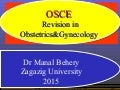 Osce revision in obstetrics and gynecology