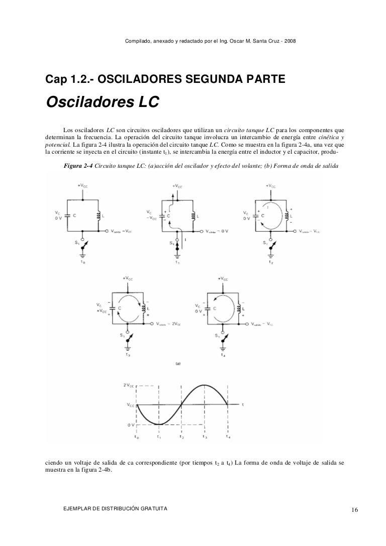 Circuito Oscilador : Osciladores rc