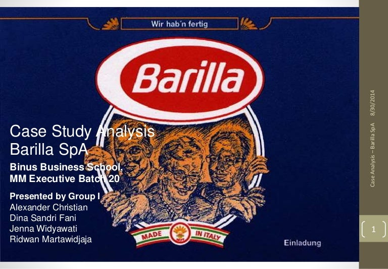 barilla spa questions essay Barilla spa case write my research paperquestion 5: identify the principal categories of cost impacted by the order pattern shown in exhibit 12.