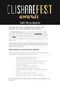OuiShare Fest Awards - Call for projects - EN