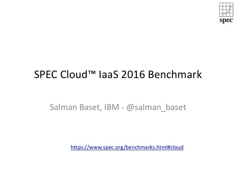 spec cloud tm iaas benchmark
