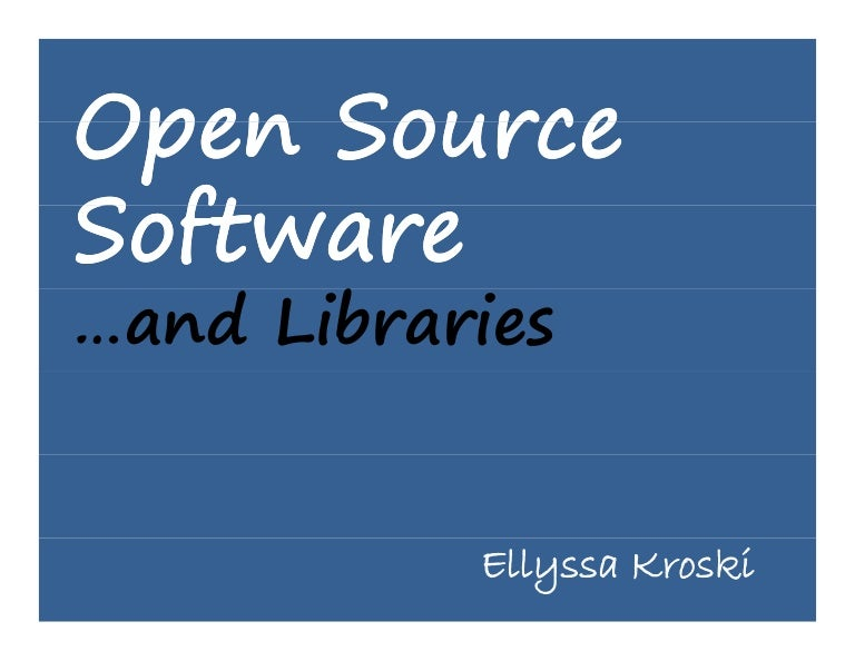 the latest open source software essay Every company in the world now uses open-source software  this essay did more than show the advantages of free software  admins struggle with the latest windows 10 1809 patch on some hp.