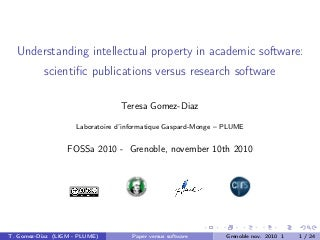 Oss licences in academia - fossa2010
