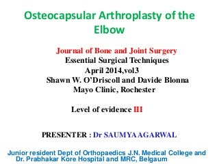 Ortho Journal Club 2 by Dr Saumya Agarwal