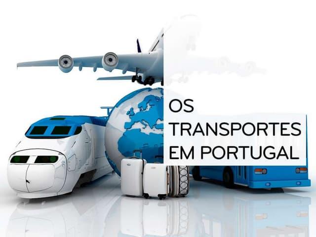Os transportes em Portugal - Geografia 11º Ano
