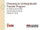 Choosing an Undergraduate Transfer Program