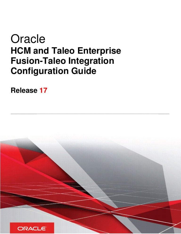 Oracle HCM and Taleo Enterprise Fusion-Taleo Integration
