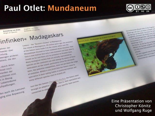 Paul Otlet und das Mundaneum