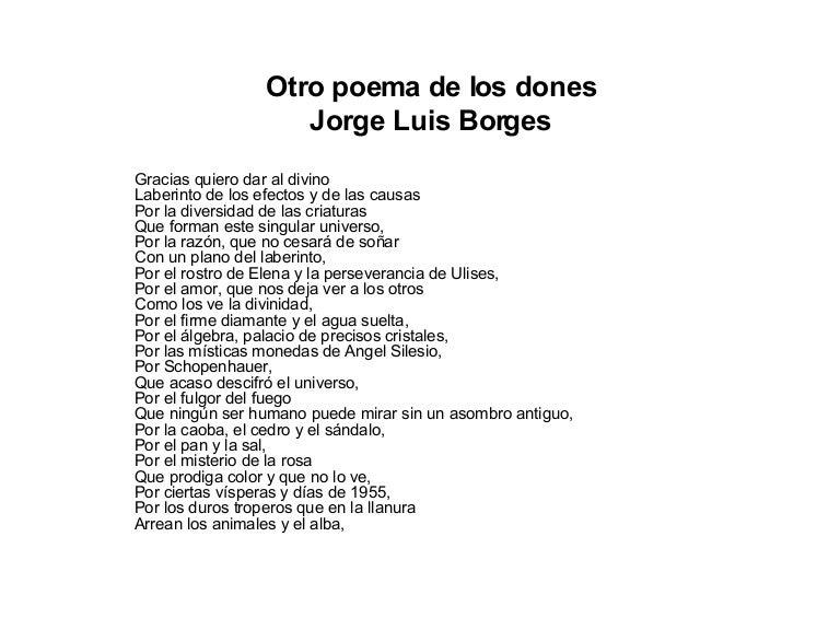 Otro poemas de los dones for Buscador de poemas