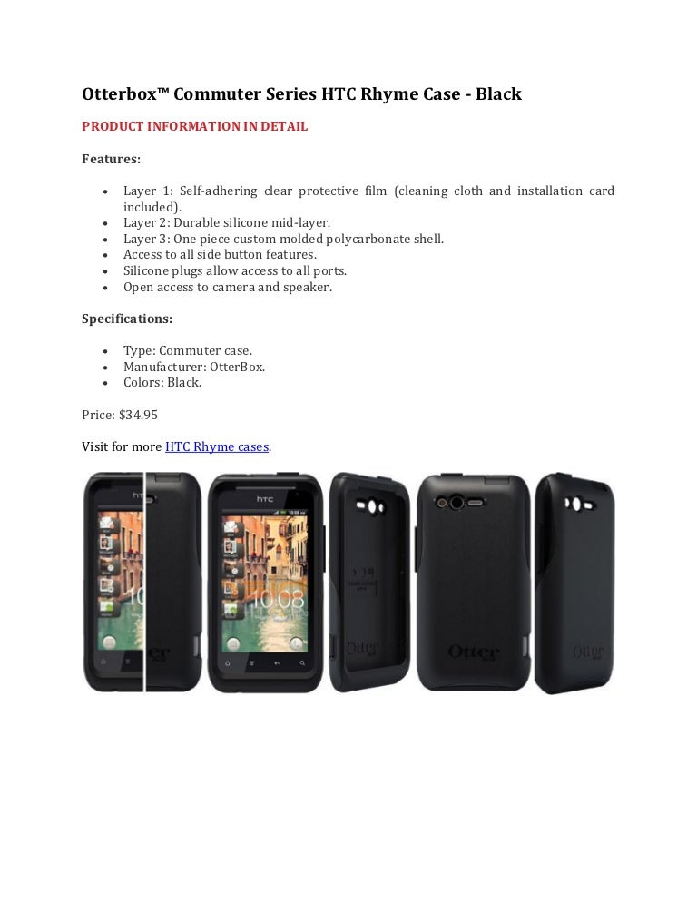 Otterbox commuter series htc rhyme case black at fommy