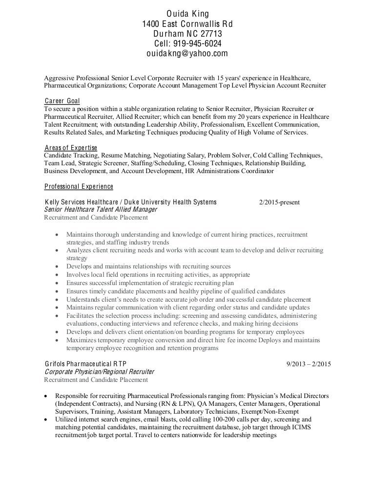 Physician Recruiter Resume