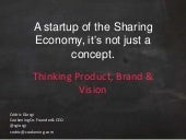 Thinking Product, Brand & Vision for your startup
