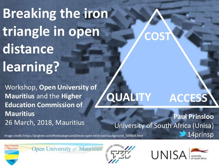 Breaking The Iron Triangle In Open Distance Learning