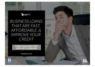 Our bad credit business loans are fast, affordable, & helps rebuild credit